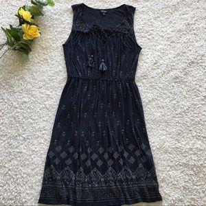 Lucky brand woman's boho lace up sleeveless dress